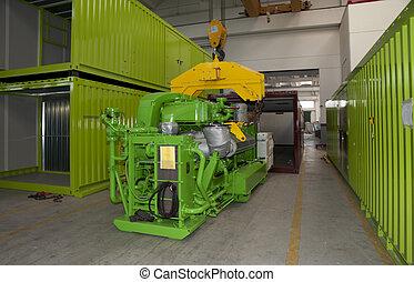 Factory: biogas energetic valorization