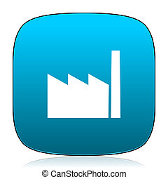 factory blue icon