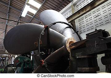 Factory boat propeller.