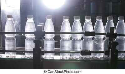 Factory bottled water conveyor