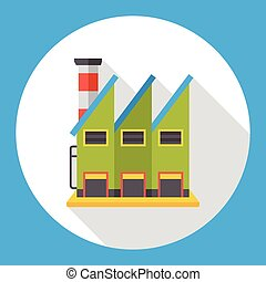 factory building flat icon