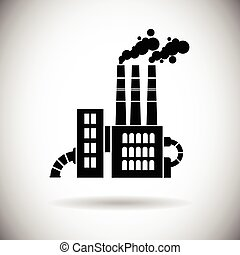 Factory Building Web Icon Plant