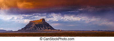 Factory Butte, Utah - Factory Butte is the most recognizable...