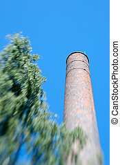 Factory Chimney Zoom