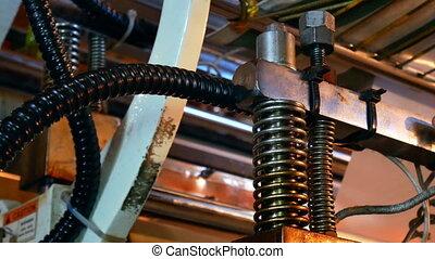 Factory conveyer forcer piston