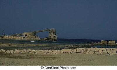 Factory. Desert plant. Egypt. Marsa Alam.