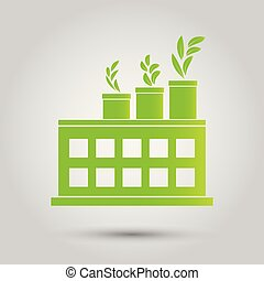 Factory ecology,Industry icon,Clean energy with eco-friendly concept ideas.vector illustration