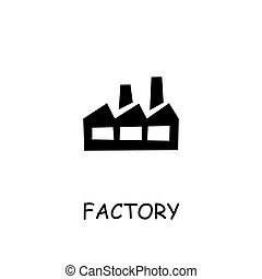 Factory flat vector icon