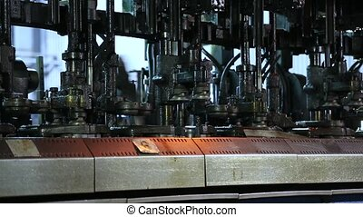 Factory for the production of bottles, glass plant - Hot...