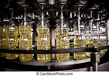 Factory for the production of edible oils. Shallow DOFF. Selective focus.