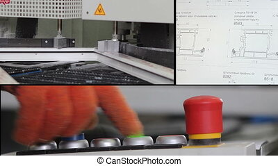 factory for the production of plastic windows - multiscreen