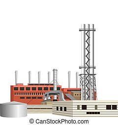 Factory - highly detailed vector factory