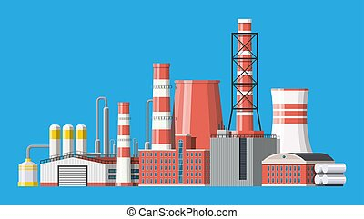 Industrial factory, power plant.