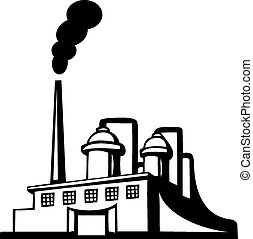 Factory icon - Factory vector icon on white background