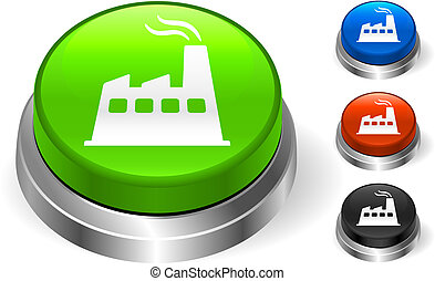 Factory Icon on Internet Button Original Vector Illustration...