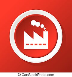 Factory icon on red