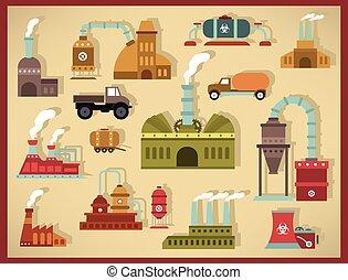 Factory icons (retro colors)