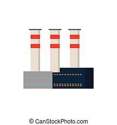 Factory Industrial Buildings Power plants vector