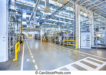 industrial background - factory interior as industrial ...