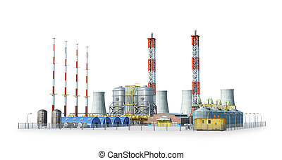 factory Isolated on white background. 3d illustration