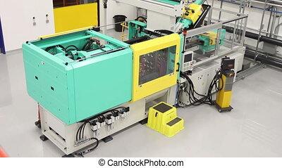 Factory Machinery Crane Shot