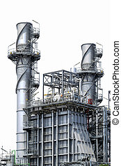 Factory metal pipelines petrochemical industry. - Factory...