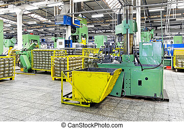 Factory - Metal production heavy machines and factory...
