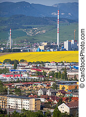 Factory Mondi in town Ruzomberok, Slovakia