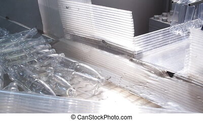 Factory of plastic bottles conveyor