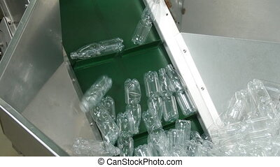 Factory of plastic bottles