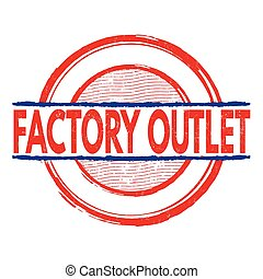 Factory outlet stamp - Factory outlet grunge rubber stamp on...