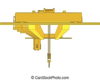 Factory overhead crane. EPS 10 vector format. Vector...
