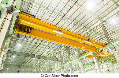 Factory overhead crane installation on rail