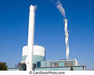 Factory plant building