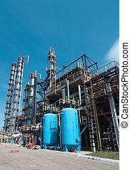 factory., poddawanie procesowi, gaz, prospekt
