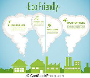 factory pollution vs green city enviroment