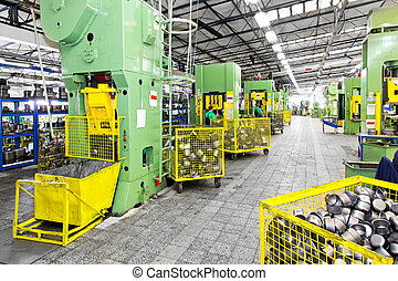 Metal production heavy machines and factory interior