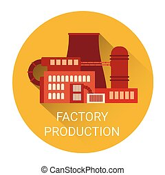 Factory Production Plant Icon