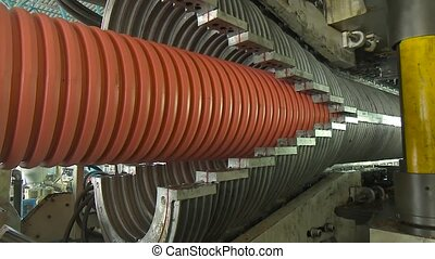 Process of making plastic pipes - Factory production plastic...