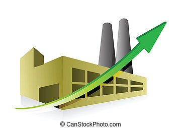 factory profits concept illustration design over white