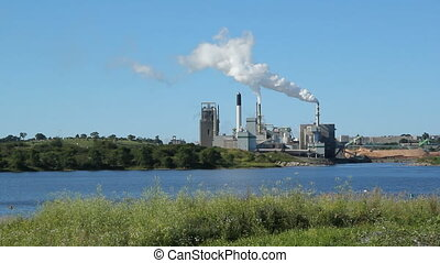 Pulp and paper factory. Saint John, New Brunswick, Canada.