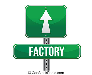 factory road sign