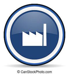 factory round glossy icon, modern design web element