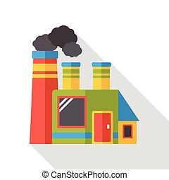 factory smoke flat icon