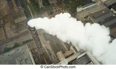 Factory smoke stack - Oil refinery, petrochemical or chemical plant