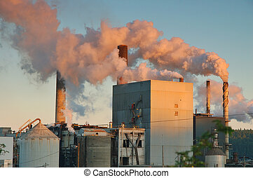 Factory - factory belching out pollution