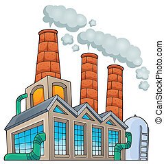 Factory theme image 1 - eps10 vector illustration.