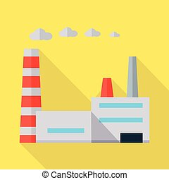Factory Vector Illustration in Flat Design.
