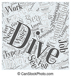 Facts about the Commercial Diving Career Word Cloud Concept