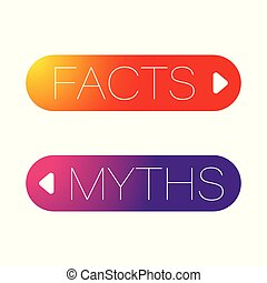 Facts and Myths button set label